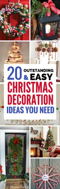 Are you excited for Christmas yet? I sure am! If you're looking for the best ways to decorate your home this year, then you have to check out these AMAZING diy christmas decorations. So IN LOVE with them. I can't wait to get cracking!
