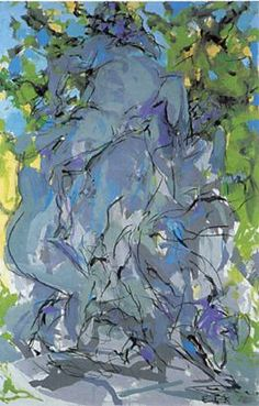 Elaine de Kooning, Bacchus #3, 1978 Acrylic and charcoal on canvas