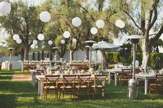 Charming white lights perfectly complete outdoor wedding reception, Photography by EPLove