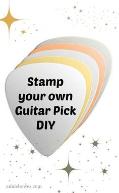 Super fun DIY Guitar Pick.  This would be a great gift idea for my husband. <3