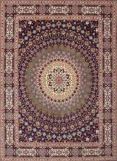 Tabriz 60 Raj silk warp carpet Feel free to pin it if you like it! Diy Carpet, Carpet Tiles, Rugs On Carpet, Bathroom Carpet, Wall Carpet, Carpet Stairs, Green Carpet, Carpet Colors, Beige Carpet