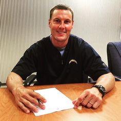 Chargers and Philip Rivers make it official! (photo via @chargers)