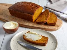 The Best Pumpkin Bread by Food Network Kitchen Pumpkin Bread Recipe Food Network, Best Pumpkin Bread Recipe, Pumpkin Recipes, Food Network Recipes, Fall Recipes, Top Recipes, Chef Recipes, Kitchen Recipes, Holiday Recipes