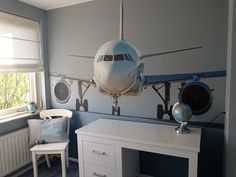 Airplane Room, Airplane Decor, Aviation Decor, Boy Room, Apartment Living, Kids Bedroom, Wall Decor, House Design, Airport Theme