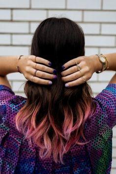 cabello con puntas rosa pastel - Buscar con Google