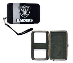 Oakland Raiders Shell Wristlet