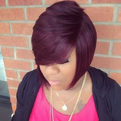 Pelucas pelo natural Synthetic Red Burgundy Wig for Women perruque cheveux synthetic African American Female Short Hair wig Short Bob Hairstyles, Weave Hairstyles, Pretty Hairstyles, 27 Piece Hairstyles, Fashion Hairstyles, Black Hairstyles, Love Hair, Gorgeous Hair, Short Hair Cuts