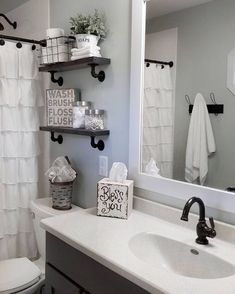 Black Shower rod, faucets, shower head and shelves with the black pipes 47 Amazing Guest Bathroom Makeover Ideas Shower Rod, Shower Heads, Shower Doors, Restroom Remodel, Remodel Bathroom, Tub Remodel, Shower Remodel, Black Shower, Bathroom Storage