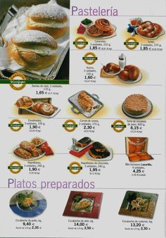 Pasteleria - folleto de ventas, Espana