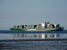 Container ship and reflections - Ever Steady by W.Drescher, via Flickr