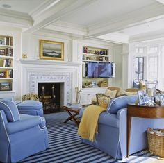Chatham Family Room - traditional - family room - dc metro - by Pamela Gaylin Ryder, Inc