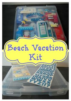 Make your own Beach Vacation Kit from The Tip Toe Fairy. We suggest you add essential oils including Carrot Oil (for sunscreen) and Citronella (for bug protection) and 40 Beach Tips and Tricks - Hacks and Ideas for Your Trip to the Sand