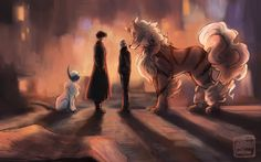 Sherlock has an Absol and Watson has an Arcanine. Perfect!