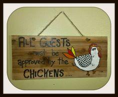 Custom wood sign , Custom chicken sign , Handmade wood chicken sign  , chicken wood sign , hand painted custom sign , chicken coop sign - pinned by pin4etsy.com