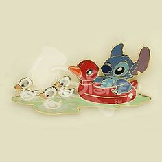 DISNEY AUCTIONS STITCH Summer Innertube LE Pin