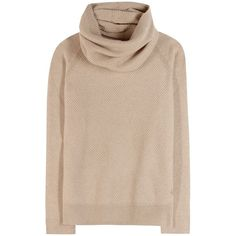 Loro Piana Losanna Cashmere Sweater With Scarf (€1.885) ❤ liked on Polyvore featuring tops, sweaters, long sleeves, shirts, beige, beige shirt, cashmere tops, cashmere sweater, beige top и shirt sweater