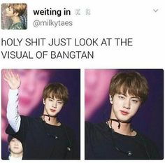 and people sleep on this?? imagine being blind to Jin's beauty?? tragic