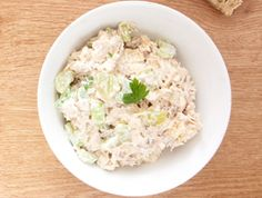 Bring this zesty, bariatric friendly RANCH CHICKEN SALAD to your holiday barbeque this weekend! #chickensalad #bariatricrecipes