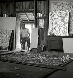 Pollock in his studio
