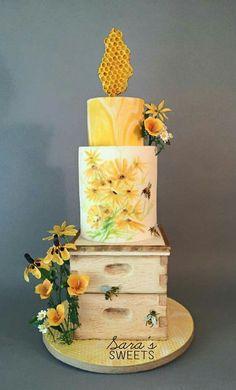 Honey Bee hive cake!