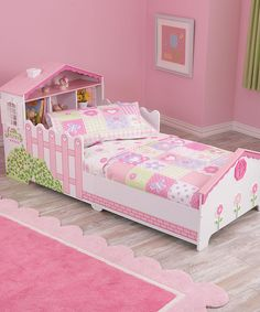 This KidKraft Dollhouse Toddler Bed by KidKraft is perfect! #zulilyfinds