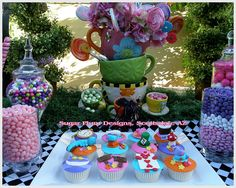 Alice In Wonderland Candy Buffet