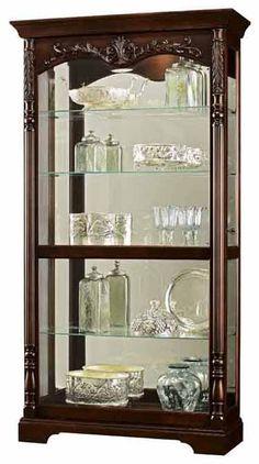 Howard Miller Felicia 680-497 Rustic Cherry Curio Cabinet