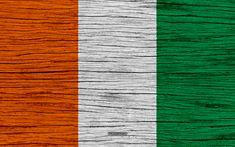 Download wallpapers Flag of Cote d Ivoire, 4k, Africa, wooden texture, national symbols, Cote d Ivoire flag, art, Cote d Ivoire