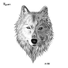 Amazon.com : WYUEN 12 PCS/lot Wolf Temporary Tattoo Sticker for Women Men Fashion Body Art Adults Waterproof Hand Fake Tatoo 9.8X6cm W12-01 : Beauty