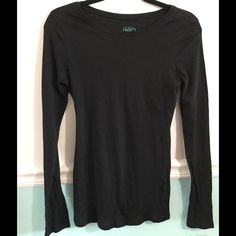 Psst black long sleeve shirt Psst black sleeve shirt Pssst Tops