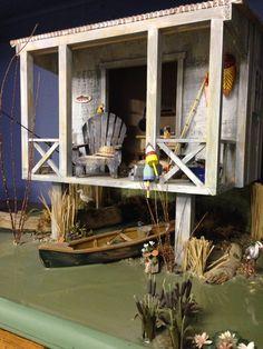 Miniature fishing shack