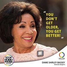 #QuoteOfTheDay  Dame Shirley Basel wird heute 80 Jahre jung! Happy Birthday! #IamWhatIam #ShirleyBassey #Diva #EnoughisEnough #StopHomophobia #LGBTI #Community