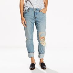 Women's Levi's® 501® CT Boyfriend Jeans, Size: 6/28 Avg, Blue