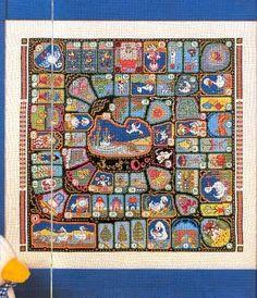 los gráficos del gato: JUEGO DE LA OCA Cross Stitch Games, Hama Beads Minecraft, Game Concept, Pixel Art, Board Games, City Photo, Frame, Cards, Painting