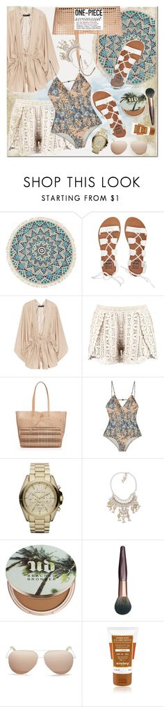 """""""Yep, They're In! The One-Piece"""" by hafsahshead ❤ liked on Polyvore featuring Billabong, Elizabeth and James, Loeffler Randall, Zimmermann, Michael Kors, Child Of Wild, Urban Decay, Charlotte Tilbury, Victoria Beckham and Sisley Paris"""