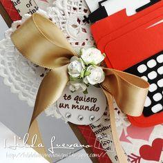 Hilda Designs: San Valentin, Corazones y Mecate Reto #28 en LAC  Just My Type de Designs on Cloud 9 y sello de Latina Crafter del set Mi Dulce Amiga