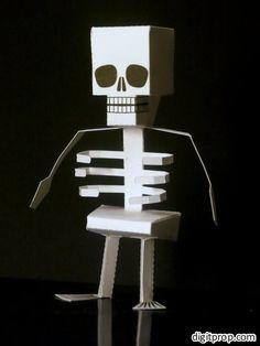 Halloween special – papercraft skeleton   Digitprop - Paper design