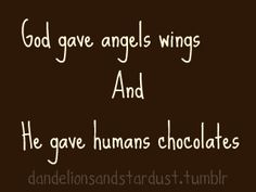 wings and chocolates