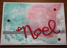 Background Distress Inks, die from Stampin Up!
