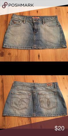 Paris Blues Mini Denim Skirt Mini Denim Skirt by Paris Blues. Size 5. EUC Paris Blues Skirts Mini