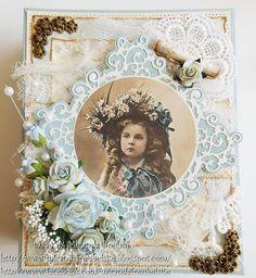 Vintage Scrapbook, Scrapbook Layouts, Scrapbooking, Picture Cards, Vintage Cards, Diy Cards, Swirls, Cardmaking, Romantic