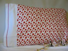 Buttons Pillowcase by LJsCustomCreations on Etsy, $8.00