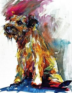 Border Terrier dog art portraits, photographs, information and just plain fun. Also see how artist Kline draws his dog art from only words at drawDOGS.com #drawDOGS http://drawdogs.com/product/dog-art/border-terrier-dog-portrait-by-stephen-kline/
