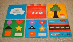 a quiet book made with cardstock...maybe easier than with felt.