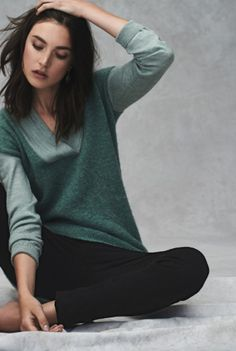 Colorblocked Boucle Pullover #anthroregistry