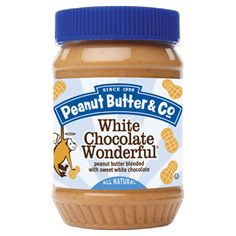 White Chocolate Wonderful - Peanut Butter Jars....all natural and supposedly it's at meijer!