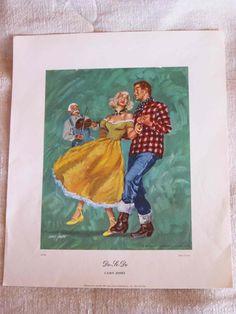 """Casey Jones Square Dance print """"Do-Si-Do"""""""