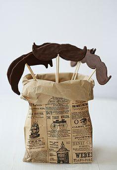 Bigotes de chocolate - diy