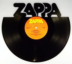 Recycled Vinyl Record FRANK ZAPPA Wall Art by SecondSpinDesigns