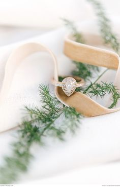 A beautiful tear drop engagement ring | Photograph by Louise Vorster